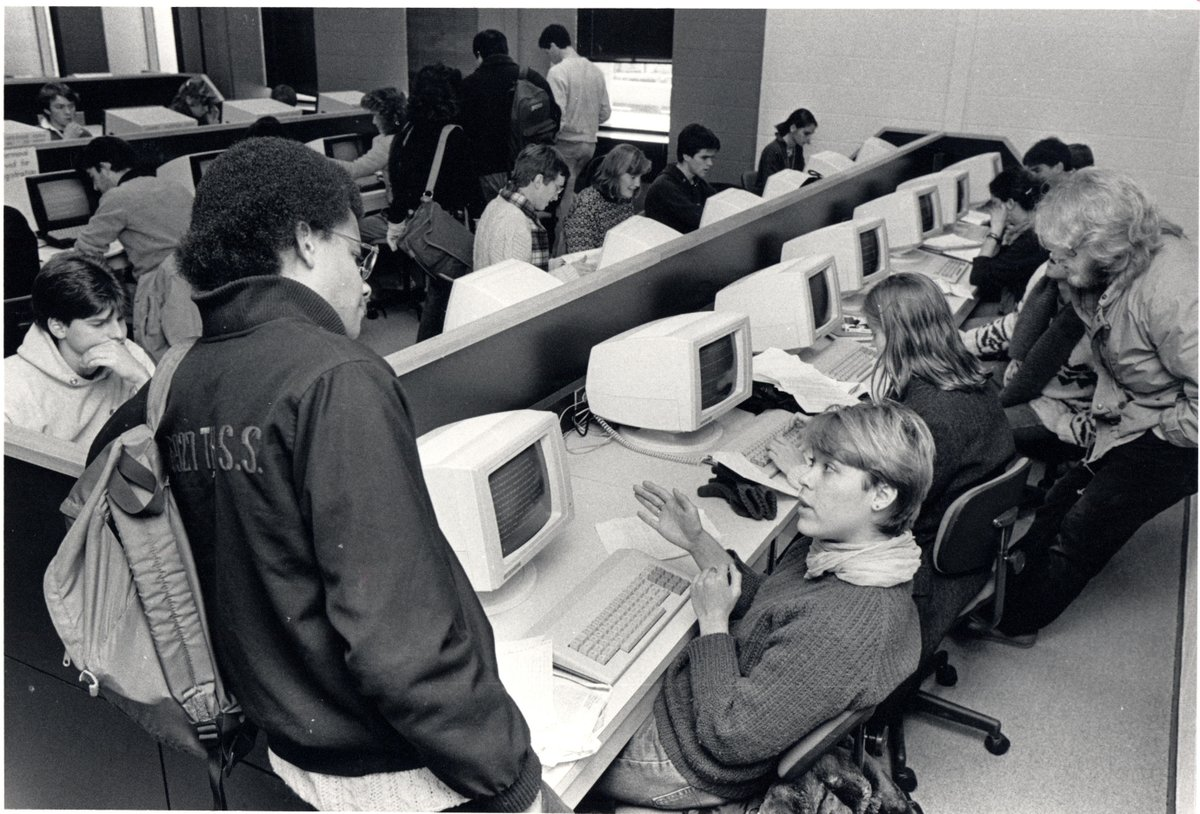 test Twitter Media - For #ThrowbackThursday we're sharing a photo from the archives that truly showcases the tech of the time. Do you have great memories of working with computers like these?  Your support continues to move us forward. Contribute today at https://t.co/Q9G07zXWVl https://t.co/tSbotccavi