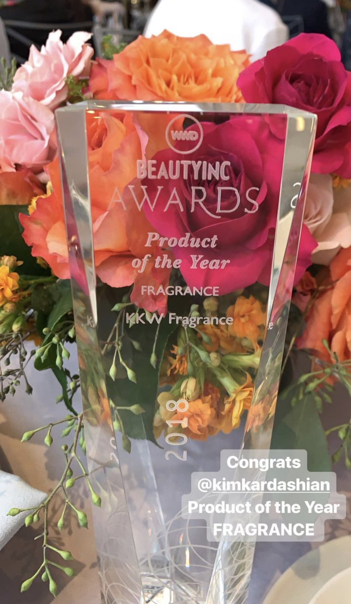 Thank you @wwd for this great honor!!!!! PRODUCT OF THE YEAR for @KKWFRAGRANCE https://t.co/ei81443ZJT