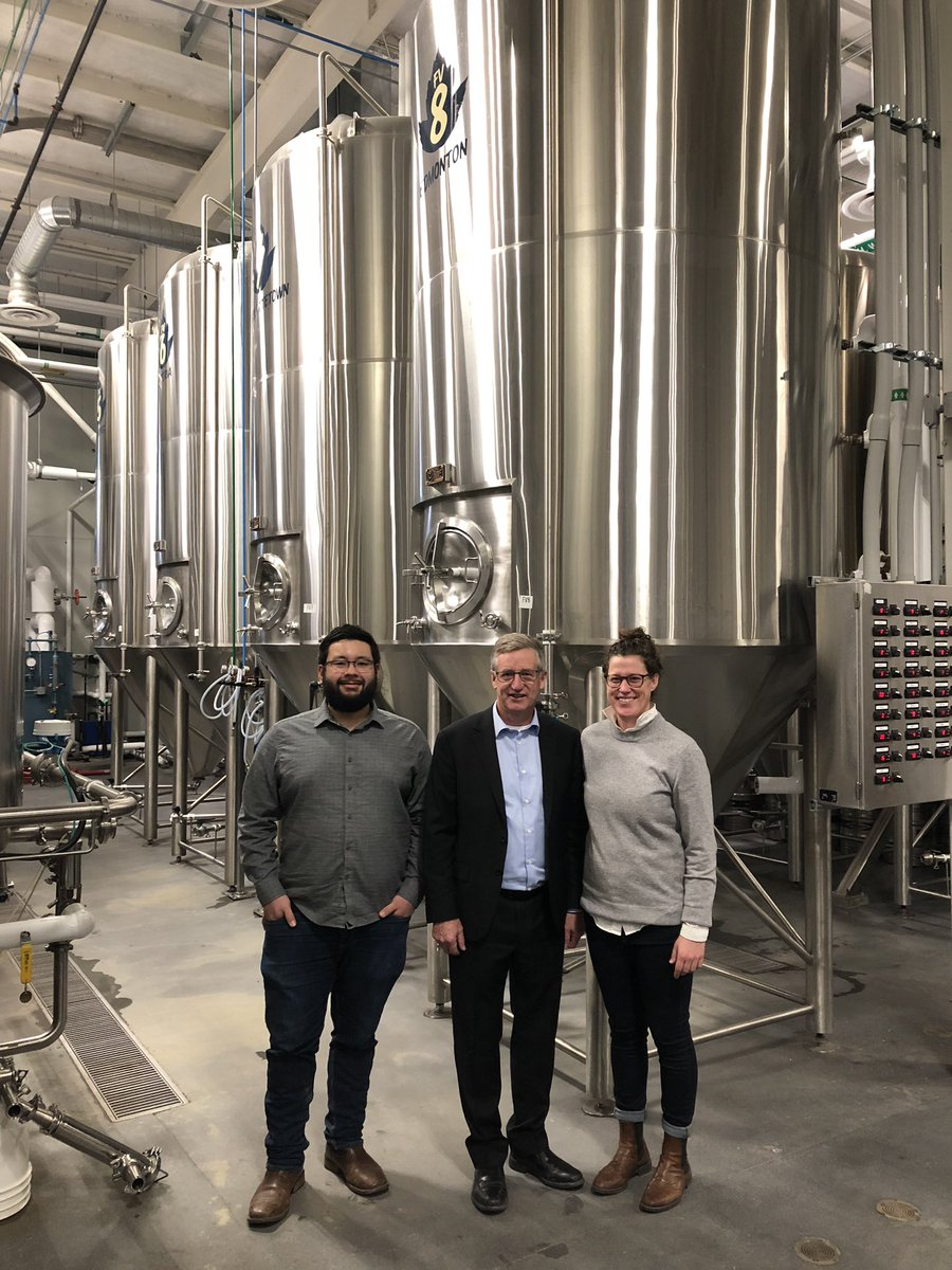 """test Twitter Media - Thank you to Matt Tallman, President and Morgan Wielgosz, Head Brewer at @transcanadabrew for the tour and quick lesson on the brewing process. Congratulations on your continued success and I wish you all the best in your future """"brewing"""" endeavours. 👏🍺 https://t.co/fVCLu6oDGd"""