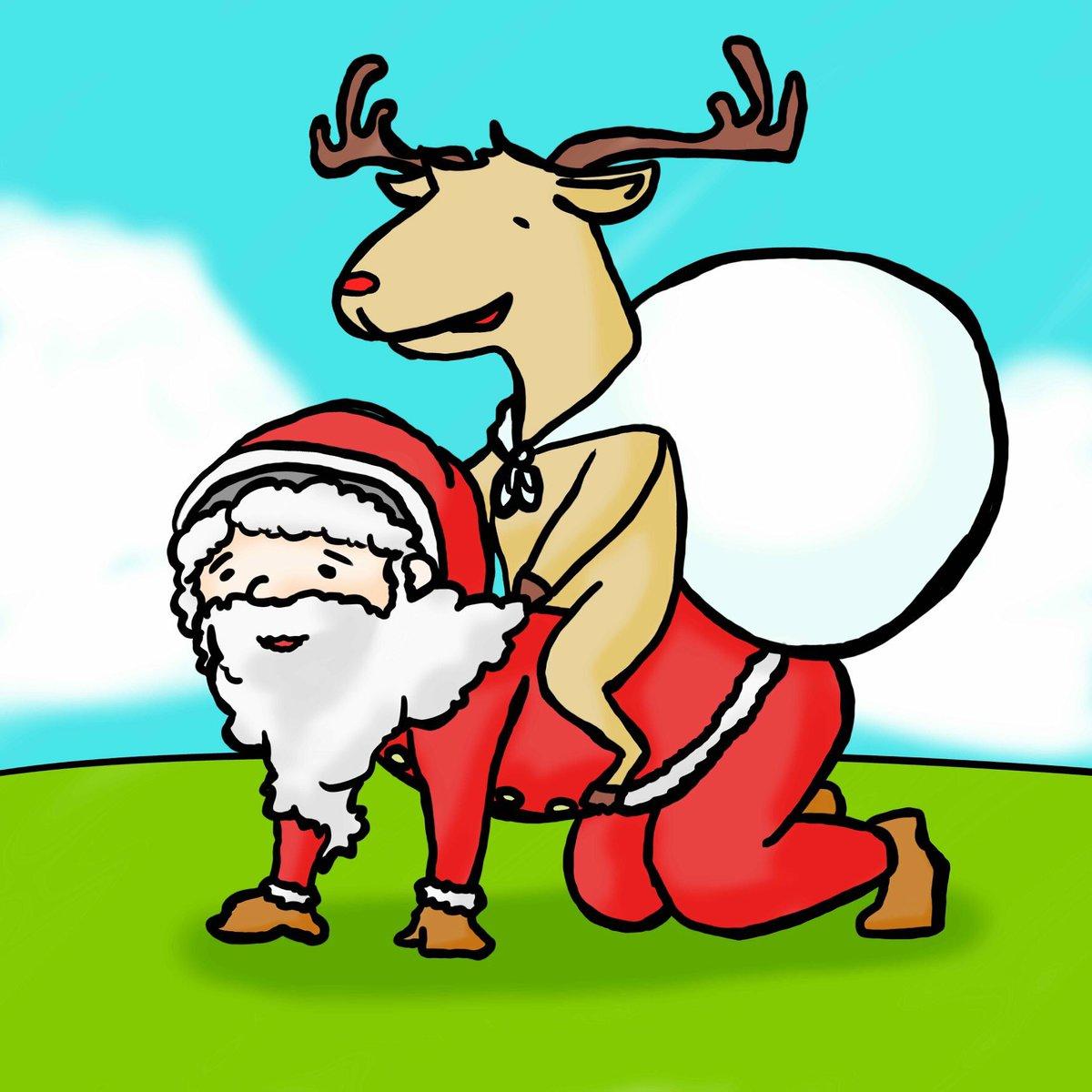 最近リクエストで描かせてもらったやつ  1枚目 元同僚 クリスマス的な何か  2枚目...