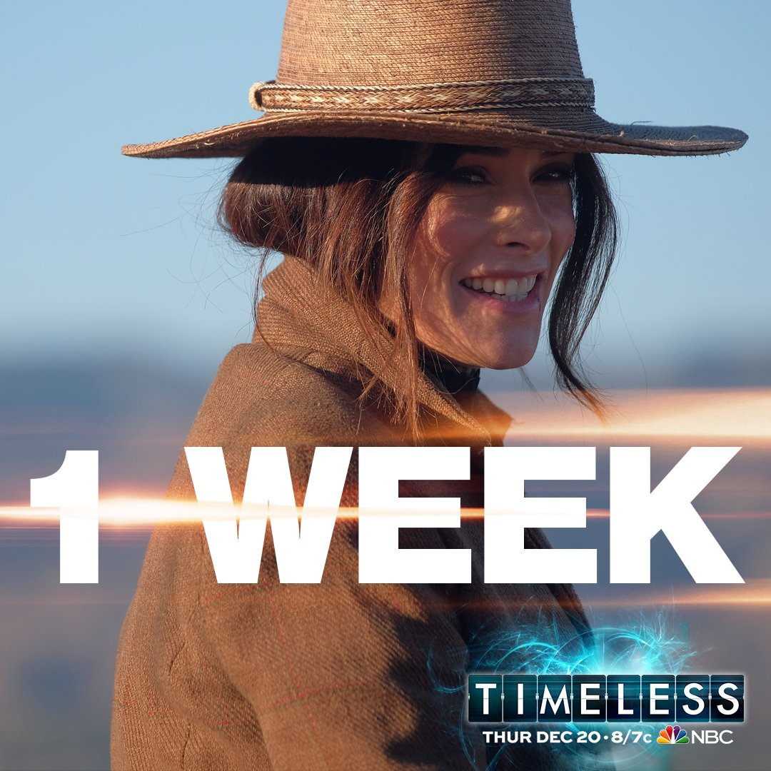 RT @TimelessSPTV: ONE WEEK! What are you most looking forward to in these two upcoming episodes? #Timeless https://t.co/6EwqC0311Z