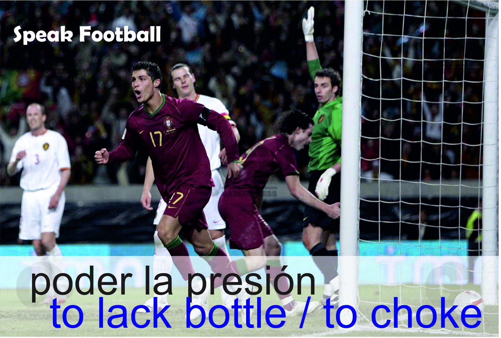 🇪🇸 Poder la presión 🇬🇧 To choke 🇬🇧 To lack bottle  🇪🇸 A Bélgica le pudo la presión contra Portugal en los cuartos de final de la Euro 2008 y fueron batidos. 🇬🇧 Belgium choked against Portugal in the Euro 2008 quarter-final match and were beaten.  #SpeakFootball @GrupoVaughan https://t.co/zs0mxJkS6z