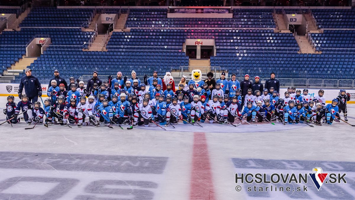 Christmas party for all #hcslovan kids with a @khl players. #VerniSlovanu @khl_eng https://t.co/wwvoff1uB5
