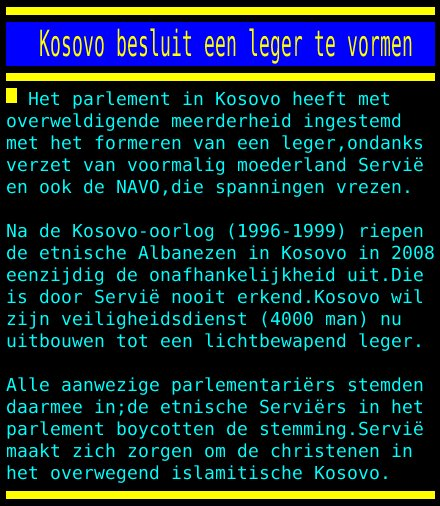 test Twitter Media - Kosovo besluit een leger te vormen https://t.co/b8ohgERazU