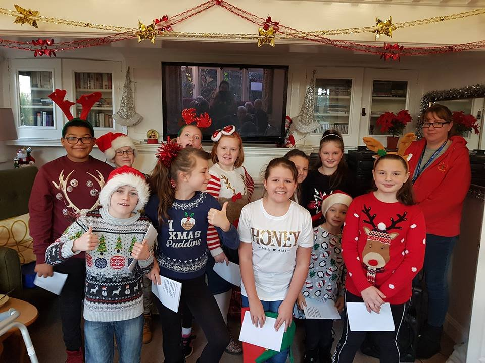 test Twitter Media - Year 6 choir did Hollywood proud again today - this time singing at Bournville Grange Care Home. We are hoping to develop an inter-generational project with Bournville Grange, so this was a lovely festive start in our jumpers for Christmas Jumper Day! https://t.co/6Lh3OVC574