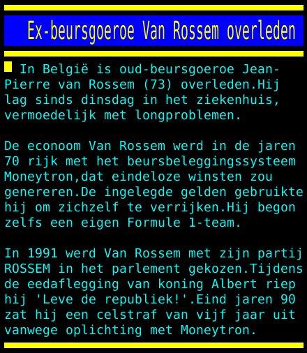 test Twitter Media - Ex-beursgoeroe Van Rossem overleden https://t.co/at7Id1l7LI