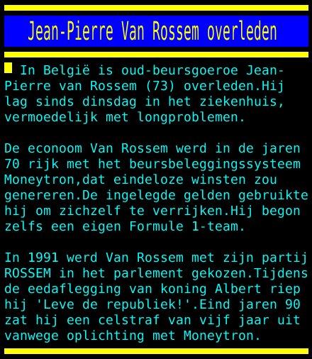 test Twitter Media - Jean-Pierre Van Rossem overleden https://t.co/psaIUxp3lO