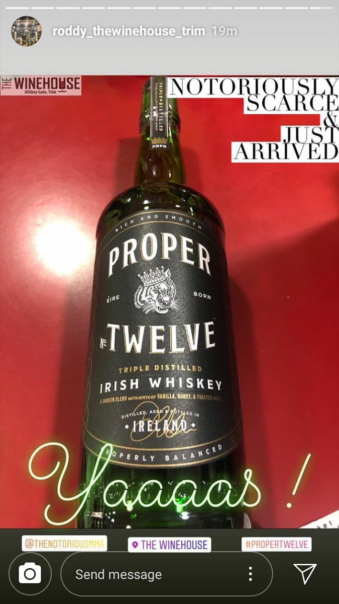 RT @marleykarl: @TheNotoriousMMA Proper 12 just arrived in the local office license in Trim town happy days https://t.co/tPyVC2OvTa