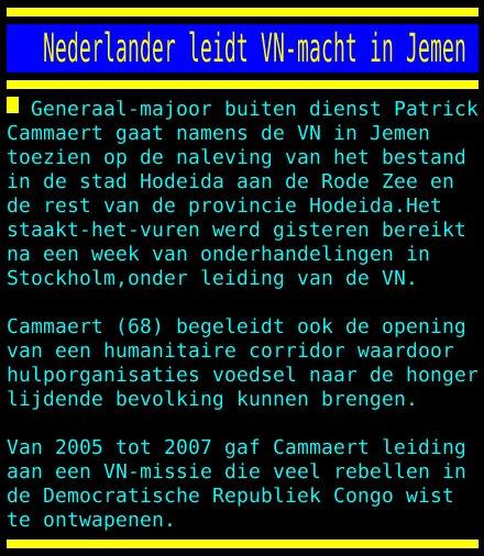 test Twitter Media - Nederlander leidt VN-macht in Jemen https://t.co/GZzca3G9ax