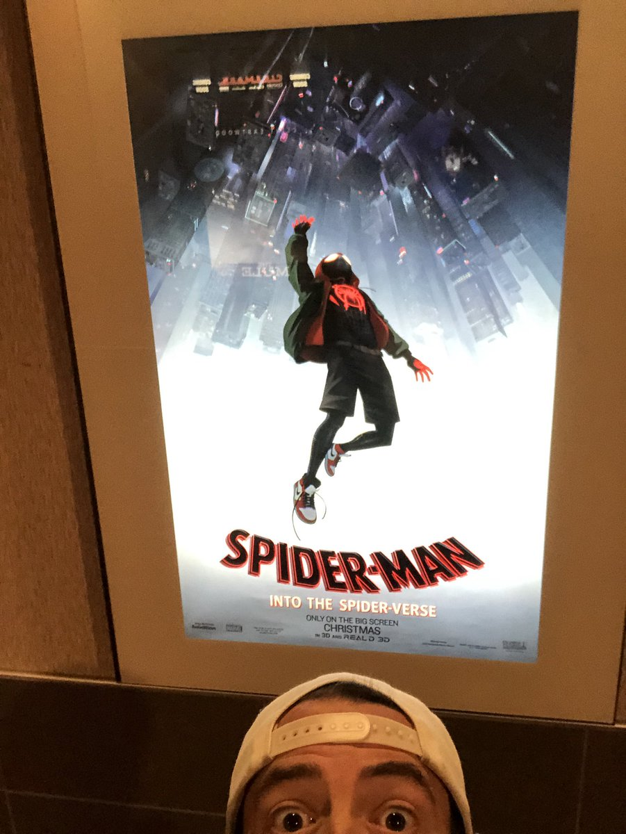It's 10am in Utah and I'm about to dive into the @SpiderVerse. This is what movies are for: temporary escape... https://t.co/aeoRfe0xgG