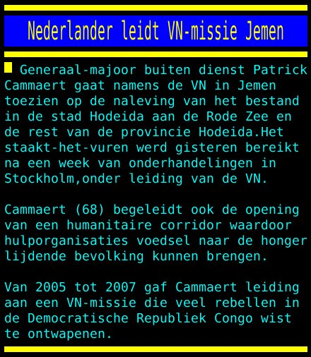 test Twitter Media - Nederlander leidt VN-missie Jemen https://t.co/58B12bkis8
