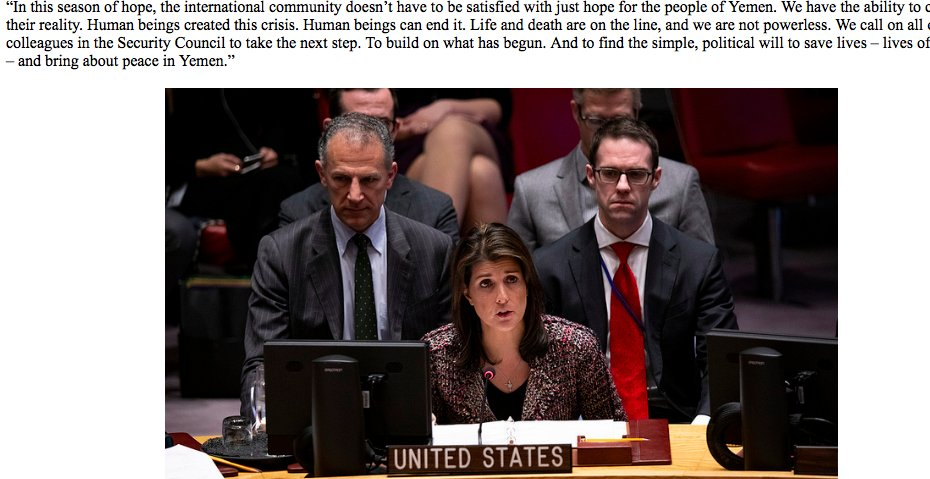 "test Twitter Media - Press release from @USUN of #NikkiHaley's ""hope"" for #Yemenis, w/pix of her #TaxPayers @GOP https://t.co/mfT4wjEoBf"