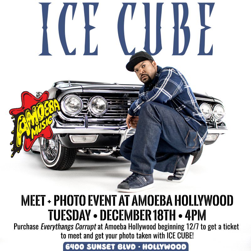 Cop the new album #EverythangsCorrupt at Ameoba Records in Hollywood to hang with ya boy next week. https://t.co/VZctILany4