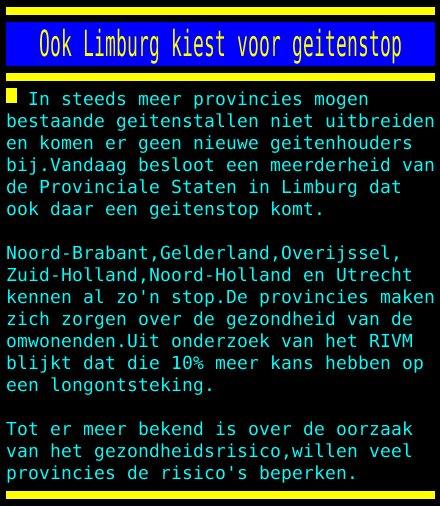 test Twitter Media - Ook Limburg kiest voor geitenstop https://t.co/zR5RlMY8Zn