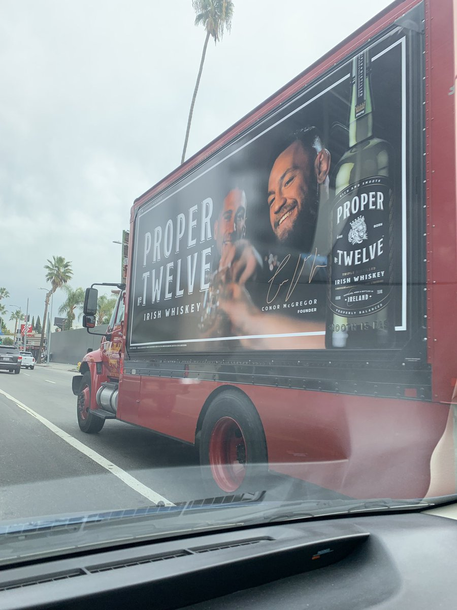 RT @trollmunchies: Literally following this truck @ProperWhiskey in Hollywood @TheNotoriousMMA https://t.co/mzutY59AFu