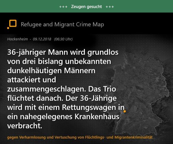 Migrantenkriminalität | #Hockenheim #Blaulicht #Polizei #Schauhin #Kriminalität #Zeugen https://t.co/aPJ4DAgisq https://t.co/rmwmVAt5tY