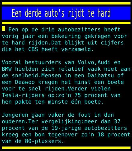 test Twitter Media - Een derde auto's rijdt te hard https://t.co/J9cdr17ctX