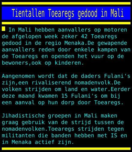 test Twitter Media - Tientallen Toearegs gedood in Mali https://t.co/sm3ZrCtcKM