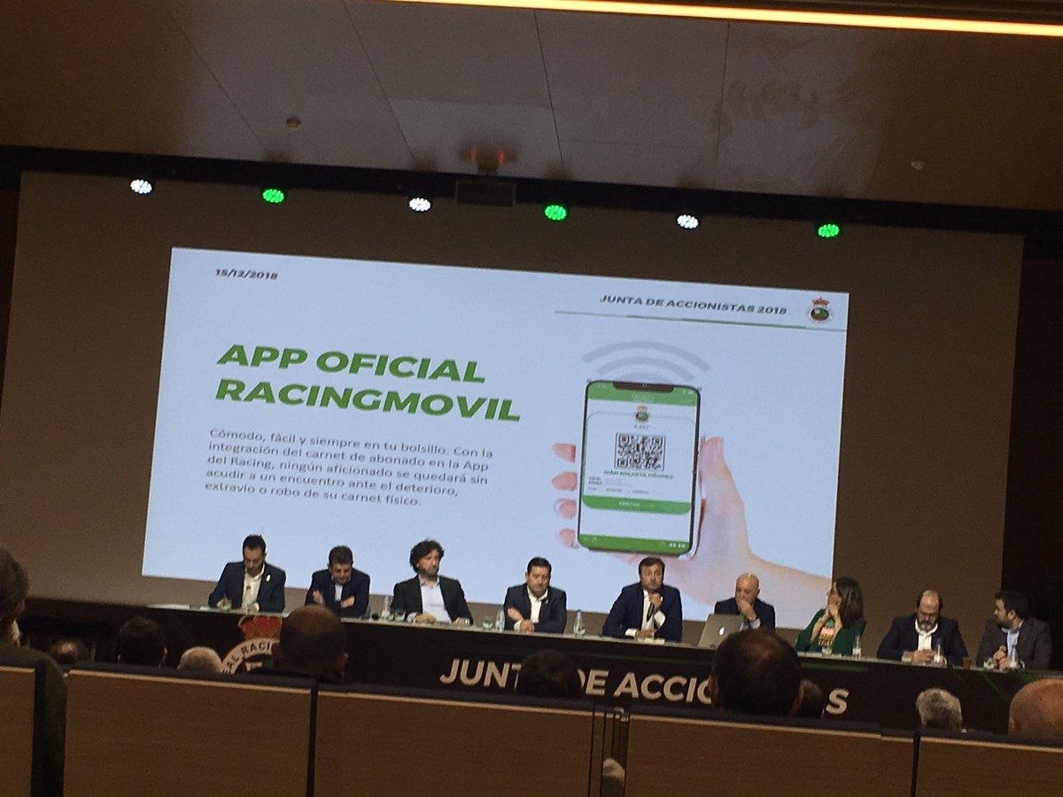 La app del Racing incluirá el carné oficial https://t.co/HwAms1g3ne