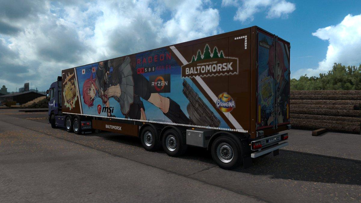 【自動ツイート】 Euro Truck Simulator 2 Beyond the Baltic Sea #ETS2 #ETS2jp #艦これ 艦これMOD Ver3.00 鬼怒改二...