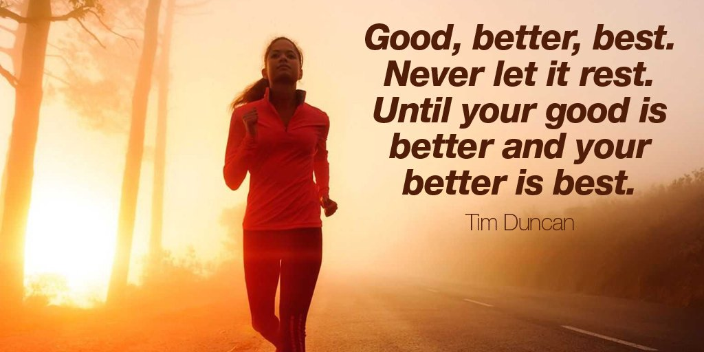 test Twitter Media - Good, better, best. Never let it rest. Until your good is better and your better is best.  - Tim Duncan #quote https://t.co/1TM6uZ5Koh