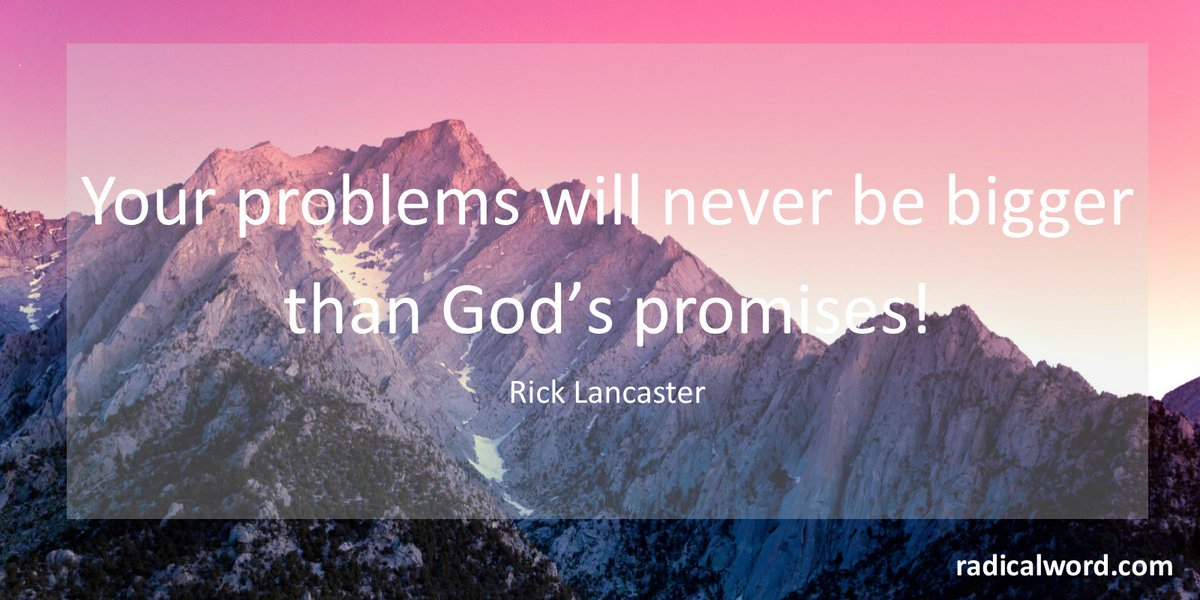 RT @radical_word: When your problems threaten to overwhelm you, look to God's promises. https://t.co/0sgLXMlbd0 https://t.co/YtisygBvyd