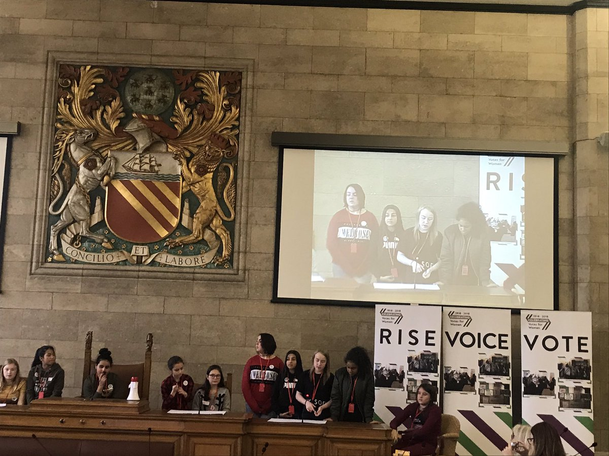 test Twitter Media - RT @pieuksocial: @CastlebrookHS presenting their ideas for better #equality in #gm2028 at @ManCityCouncil https://t.co/YKBohFQ695