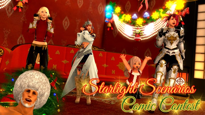 test Twitter Media - (NA) Announcing the Starlight Scenarios Comic Contest! Tell us a tale in the theme of the Starlight Celebration using #FFXIV screenshots for a chance to win an exciting in-game item! 🎄 https://t.co/MetU8FxnH8 https://t.co/xql50GNV8c