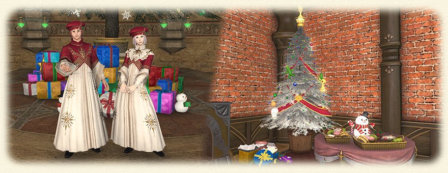 test Twitter Media - The Starlight Celebration has begun in #FFXIV! Partake in the merriment and earn yourself some festive apparel and other sweet treats! ❄️🎁🎶 https://t.co/fSO8niaDMY https://t.co/sLgV2MhDLK