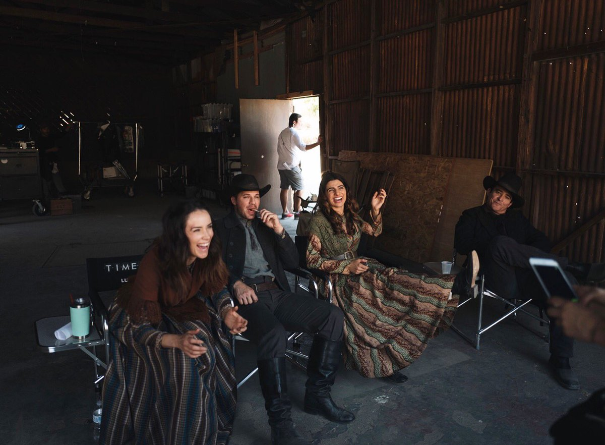 we have no fun at all! 4 days till the #Timeless movie! @MattLanter @goranvisnjic @JustDoumit @TimelessSPTV @nbc https://t.co/jOHpdLlXbB