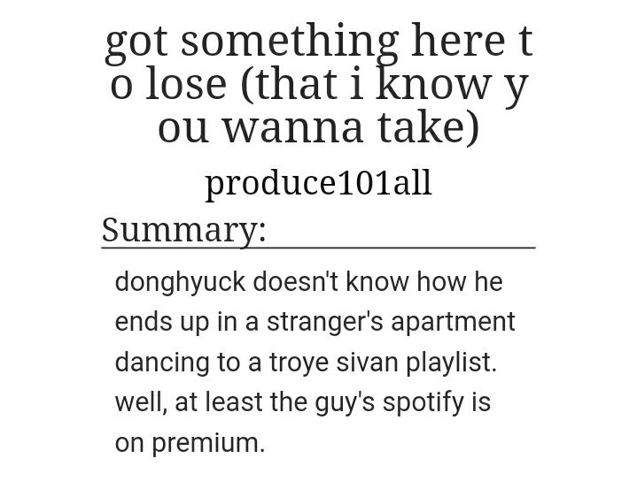 test Twitter Media - title: got something here to lose (that i know you wanna take) part of series: gays only hear troye sivan relationship: markhyuck & nahyuck (kinda complicated just read it) https://t.co/ZiE3CqvWkS https://t.co/iBpCEsoyyK