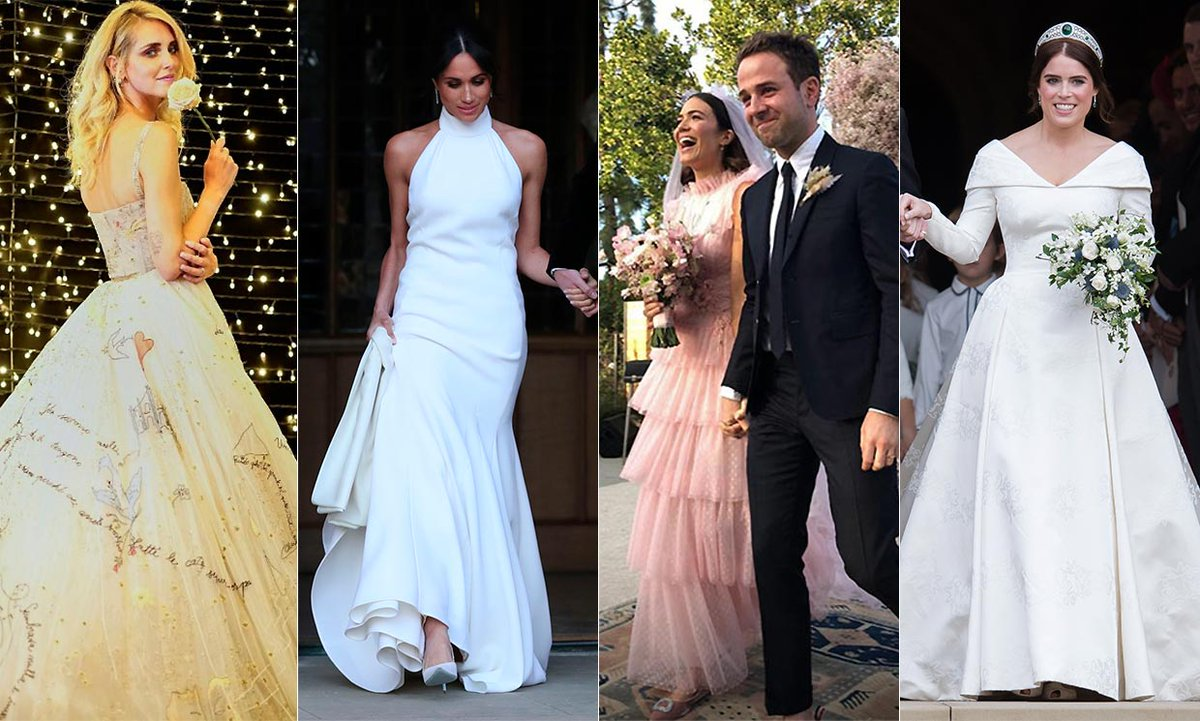 See the most stylish celebrity wedding dresses of 2018 - which is your favourite?