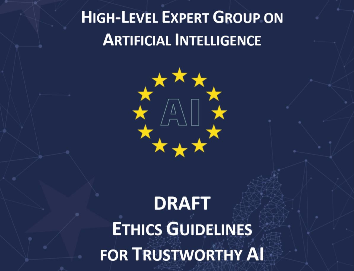 test Twitter Media - Can #ArtificialIntelligence be ethical? 🤖   Today 52 #AI experts presented draft ethics guidelines for trustworthy artificial intelligence in #Europe. You can contribute 📝to the document until 18 January!⬇️ https://t.co/jrXYRXDciN https://t.co/NrEnQqNVr5