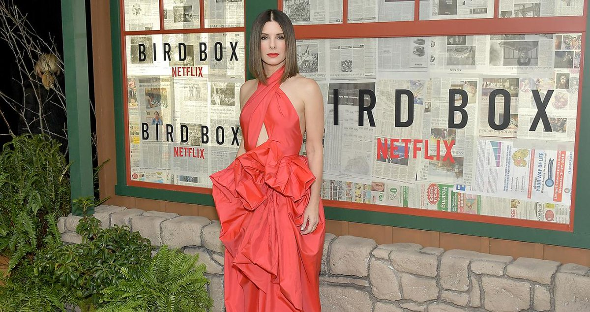 Radiant in Red! Sandra Bullock Steps Out for 'Bird Box' N.Y.C Premiere
