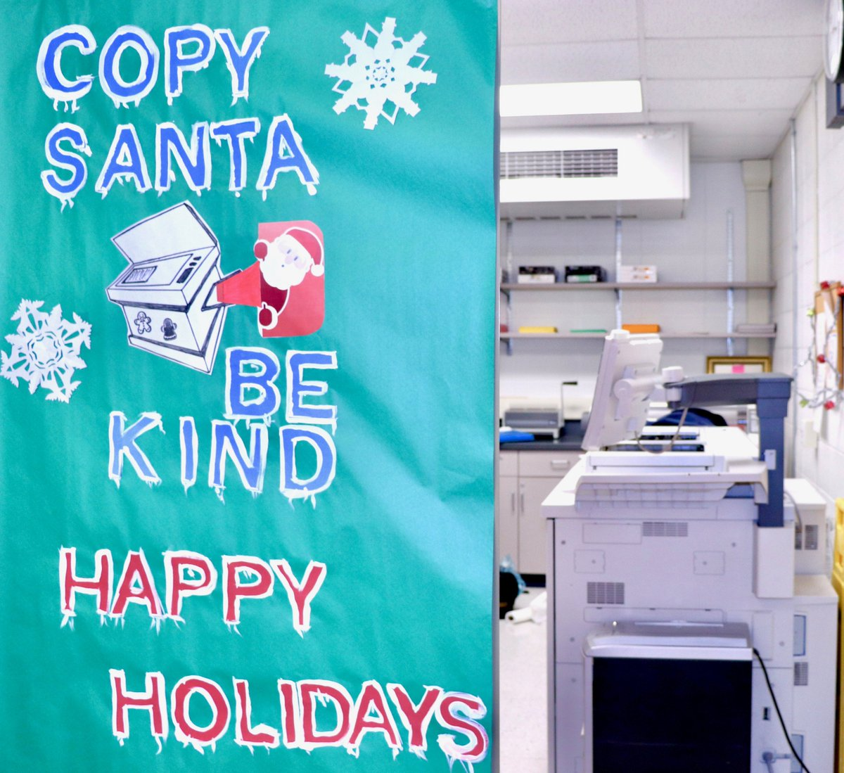 test Twitter Media - Wescott's copy room boasts a clever holiday poster! #d30learns https://t.co/7arOFMGQD5
