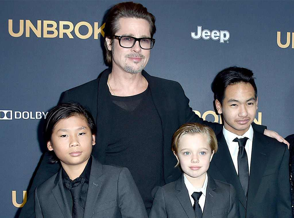 Brad Pitt spent his birthday the best way possible: with his kids.