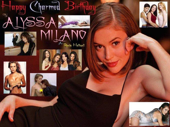Happy birthday to Alyssa Milano, born December 19,1972.