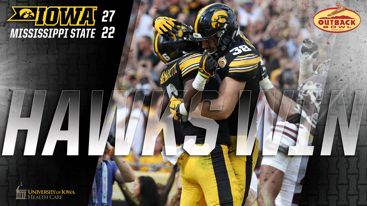 Outback Bowl Champs!   #Hawkeyes