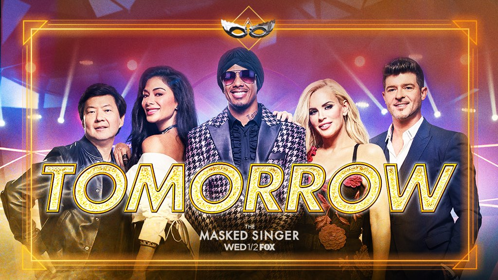 It's almost time! Brand new show @MaskedSingerFOX premieres tomorrow night 9/8C on @FOXTV #TheMaskedSinger https://t.co/AFLyMy0gXr