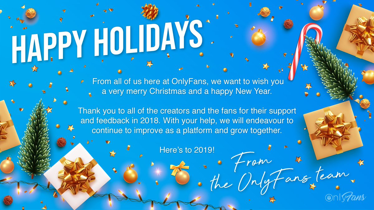 RT @OnlyFansApp: Merry Christmas to all. We hope you have a fabulous Christmas and New Year! ???????????? https://t.co/Je2Rt3JBkc