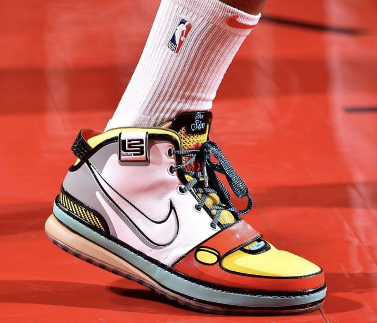 bb69047683e6a Pj tucker s christmas sneakers are the very rare stewie griffin lebron 6 s