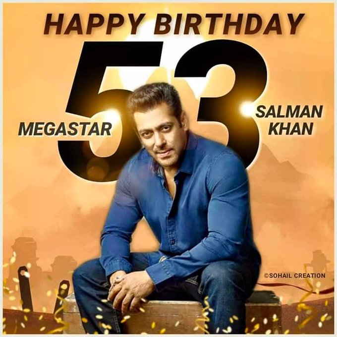 Birthday wishes to of Bollywood of box office with a golden heart HAPPY BIRTHDAY SALMAN KHAN
