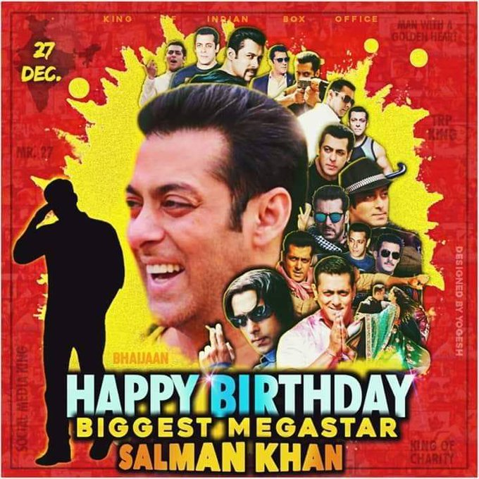 Happy Birthday World\s Biggest Megastar and Sultan of Bollywood our SALMAN KHAN SIR