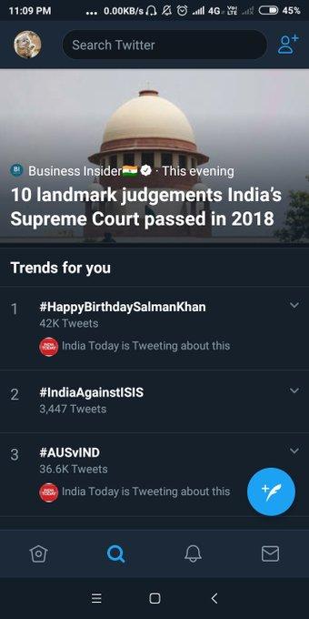 Trending on top Happy birthday Salman Khan