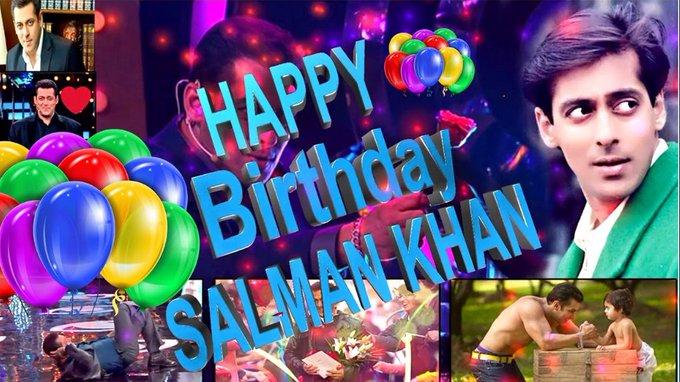 Happy birthday Salman Khan. many many happy returns of the day.