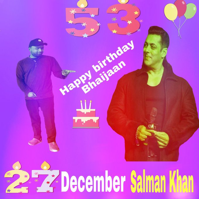 birthday Megastar Salman Khan (Bhaijaan)