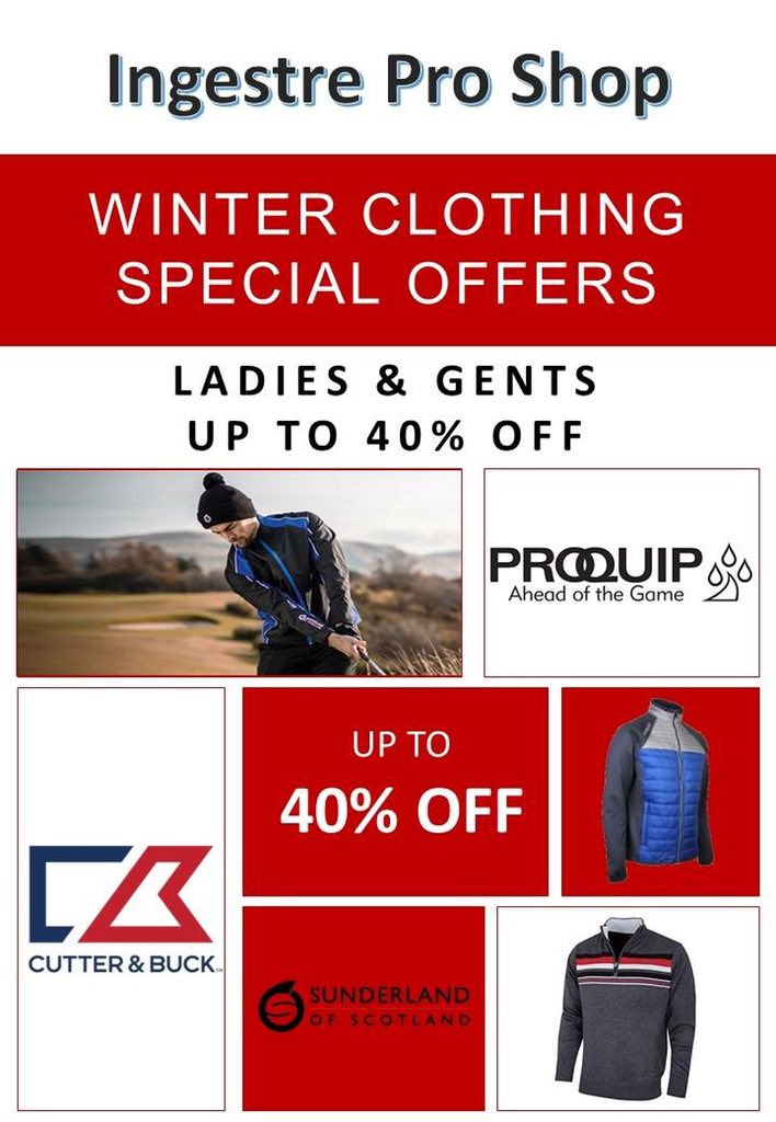 test Twitter Media - Some fantastic offers on at @IngestreParkGC Pro Shop! Make sure you pop in and check them out. #proquip #cutterandbuck #sunderlandgolf @staffsgolf @DOGSGolfSociety @poppysgolf @staffsgolfclubs https://t.co/T1dS2sEAWy