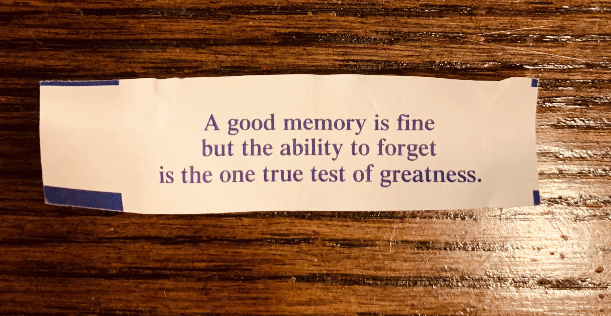 A little wisdom from a fortune cookie. https://t.co/n9v8Wi8wDX