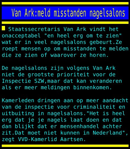 test Twitter Media - Van Ark:meld misstanden nagelsalons https://t.co/Yg7w8UjST2