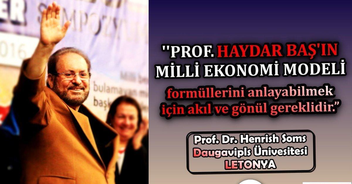 RT @husamettnclskan: Ülkemizin değerli ilim adamlarından Prof. Dr. #HaydarBaşıYedirtmeyiz https://t.co/P5KTaL3yyc
